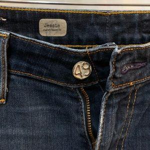 """AG dark wash Jessie curvy boot fit 33"""" inseam"""